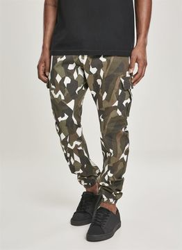 Geometric Camo Stretch Twill Cargo Pants