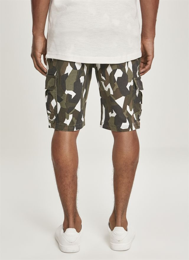 Geometric Camo Stretch Twill Cargo Shorts
