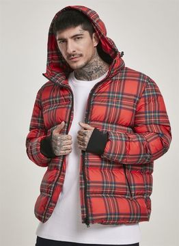 Urban Classics Hooded Check Puffer Jacket