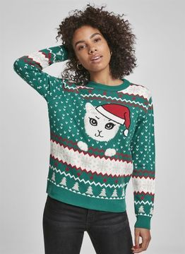 Urban Classics Ladies Ladies Kitty Christmas Sweater