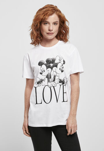 Merchcode Ladies Ladies Minnie Loves Mickey Tee