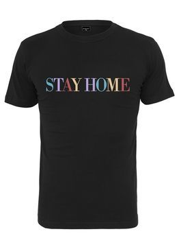 Mister Tee Unisex Stay Home Wording Tee
