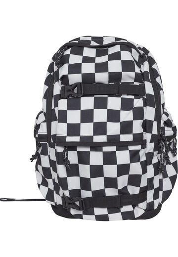 Urban Classics Backpack Checker black & white