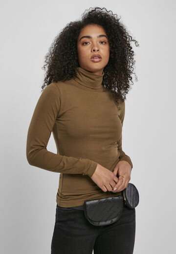 Urban Classics Ladies Ladies Basic Turtleneck LS