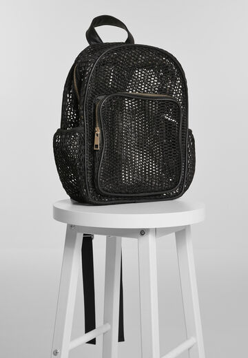 Urban Classics Lady Backpack Mesh Transparent