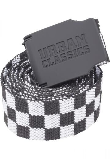 Urban Classics UC Canvas Belt Checkerboard 150cm