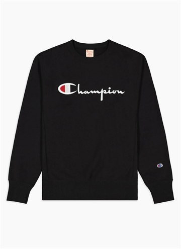 Crew neck fra Champion i sort.