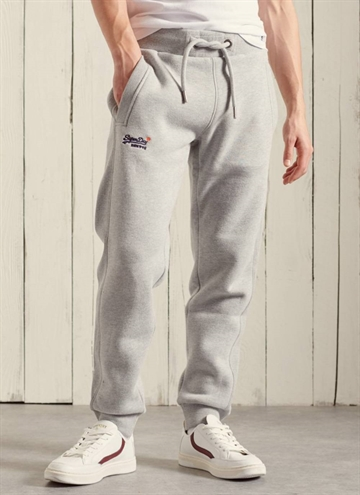 Gråmeleret sweatpants fra Superdry.