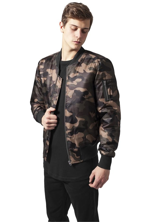 Camo Basic Bomber Jacket