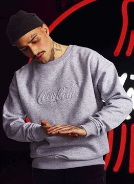 Coca Cola Embossed Crewneck