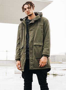 Urban Classics Cotton Peached Canvas Parka