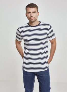 Double Stripe Long Shaped Tee