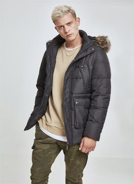 Urban Classics Faux Fur Hooded Jacket