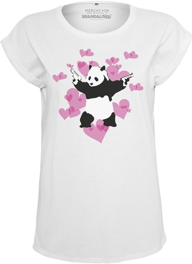 Ladies Banksy Panda Heart Tee