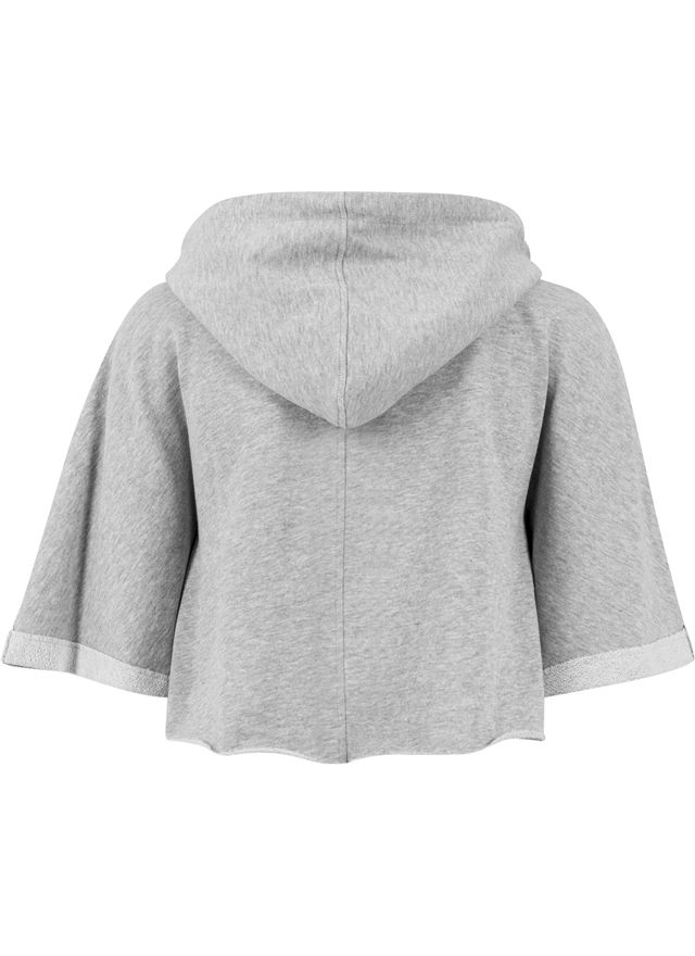Ladies Cropped Hooded Poncho