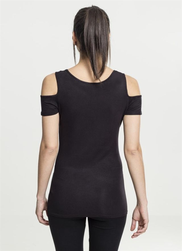 Ladies Cutted Shoulder Tee