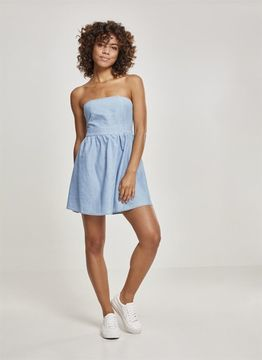 Urban Classics Ladies Ladies Denim Bandeau Dress