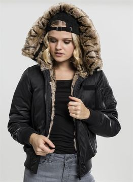 Urban Classics Ladies Ladies Imitation Fur Bomber Jacket