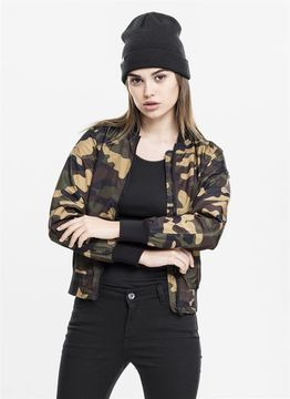 Urban Classics Ladies Ladies Light Bomber Jacket Camo