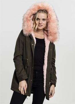 Urban Classics Ladies Ladies Peached Teddy Lined Parka
