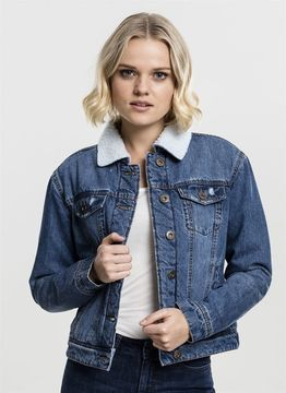 Urban Classics Ladies Ladies Sherpa Denim Jacket