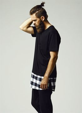 Urban Classics Long Shaped Flanell Bottom Tee